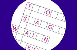 Science themed crossword for children