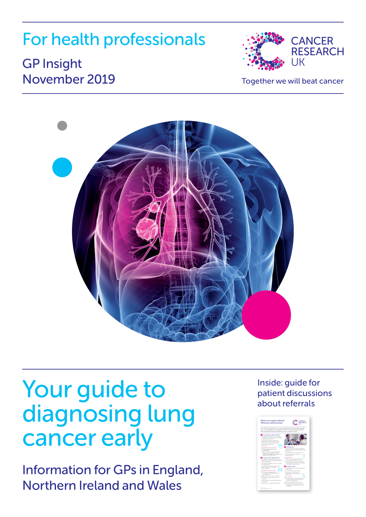 Thumbnail to CI publication about diagnosing lung cancer early