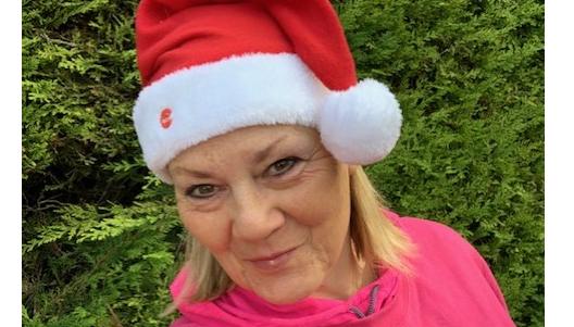 Denise at Christmas