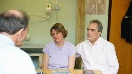 Doctor consultation with patient and partner