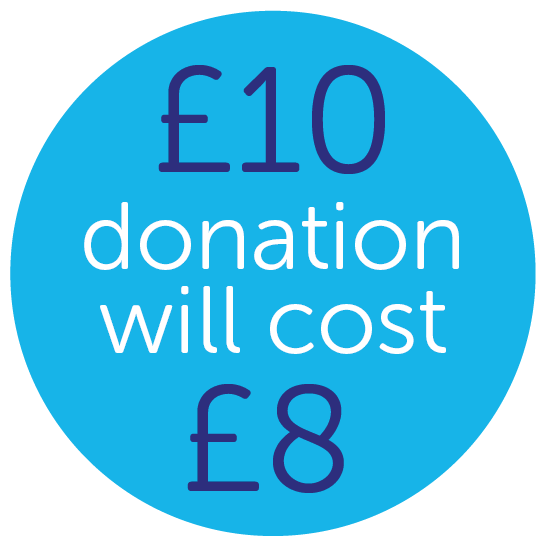 £8 donation means £10