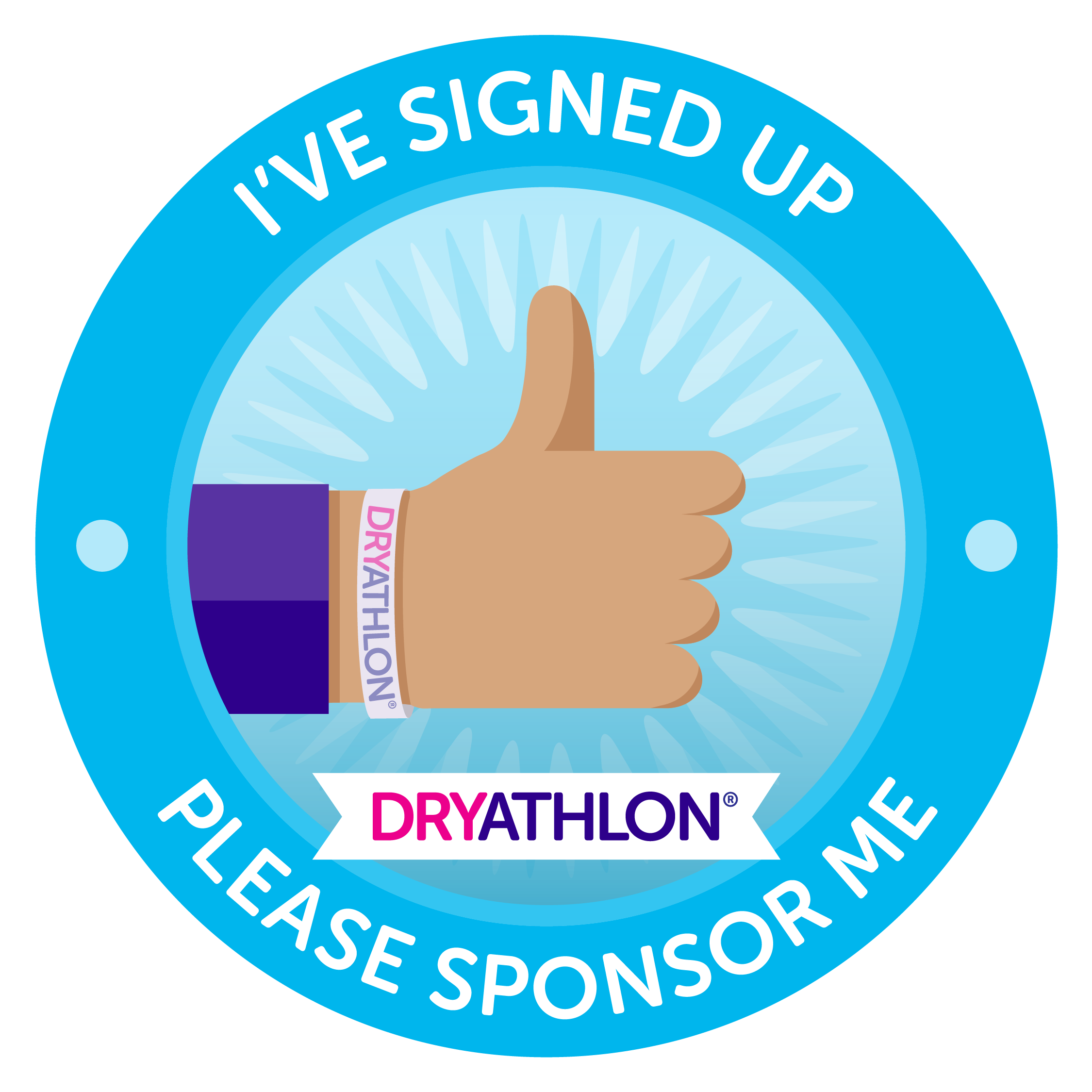 Animated thumb Dryathlon badge