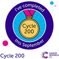 Cycle 200 completion badge