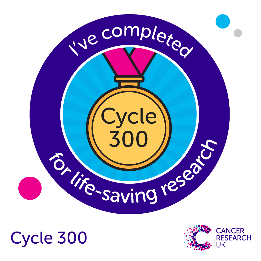 Cycle 300 - completion badge