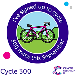 Cycle 300 - signed up badge