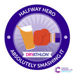 Dryathlon 2017 Half way badge thumbnail