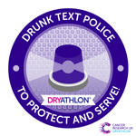 Dryathlon 2017 Drunk text police badge thumbnail