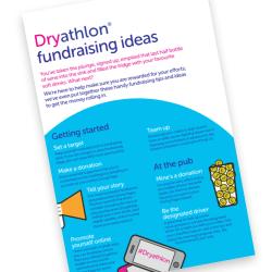 Dryathlon fundraising ideas