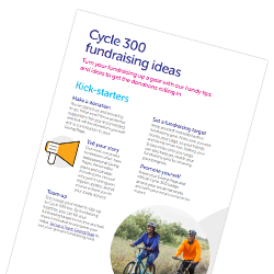 Cycle 300 fundraising ideas