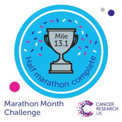 Half marathon badge - Marathon Month Challenge
