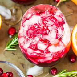 Cranberry and Pomegranate Mocktail