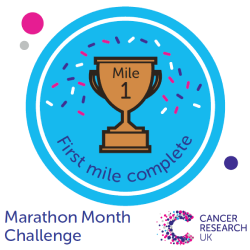 Mile 1 badge - Marathon Month Challenge