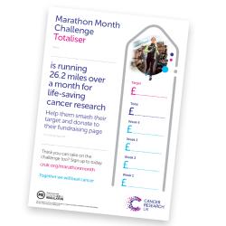 Totaliser poster - Marathon Month Challenge