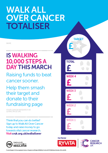 Walk All Over Cancer Fundraising Ideas Cancer Research Uk