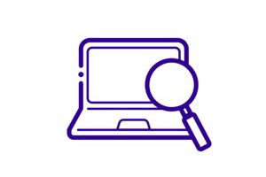 Icon showing computer