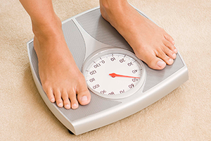 Image of feet on scales