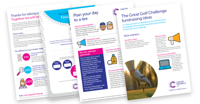Great Golf Challenge fundraising materials