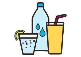 soft drinks illustration