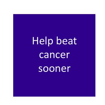 Help beat cancer sooner