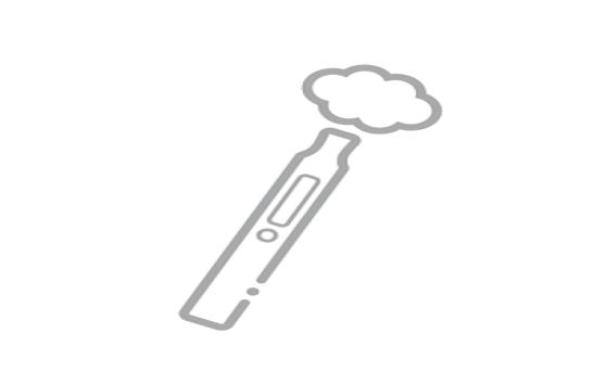 E-cigarette with vapour cloud