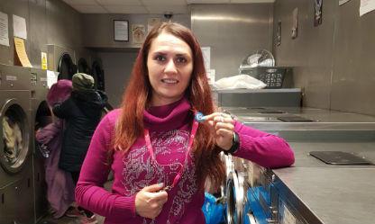 Community health volunteer Juliana at work