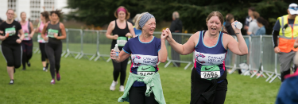 Two Cancer Research UK Runners at Kew Gardens 10K