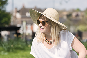 Photo of a woman in a sun hat