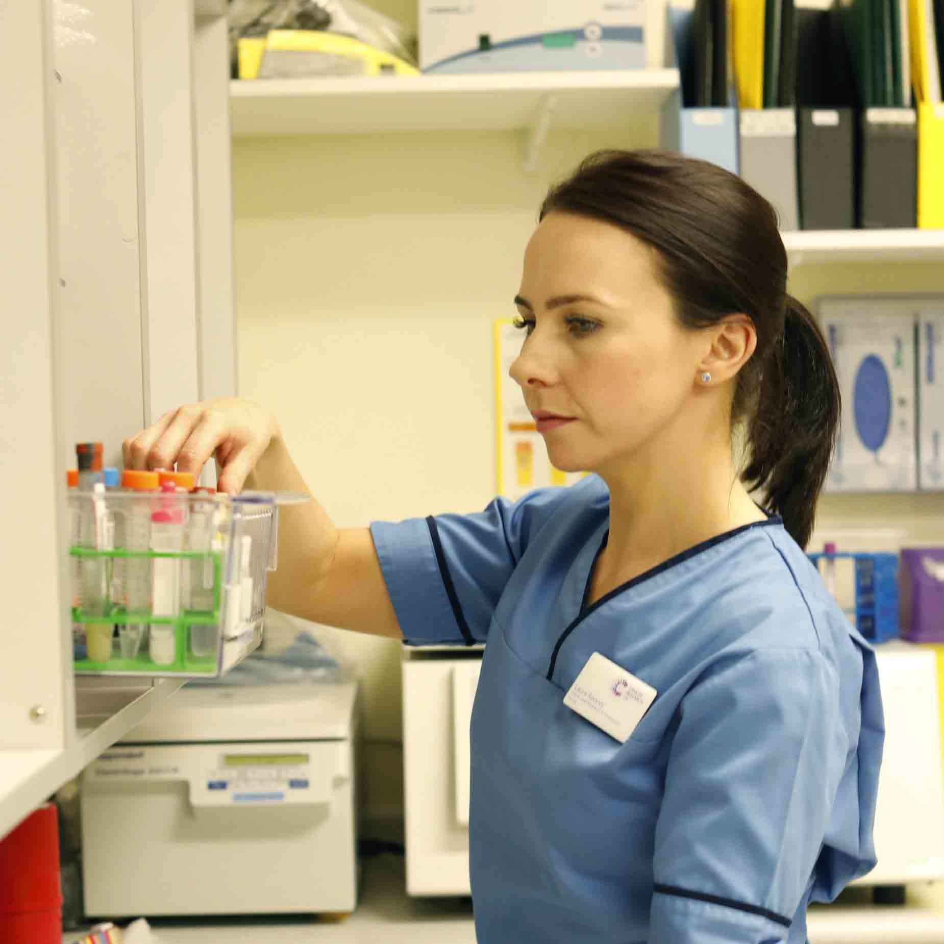Laura, a researcher in the hospital