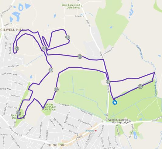 Course map for Tough 10 London