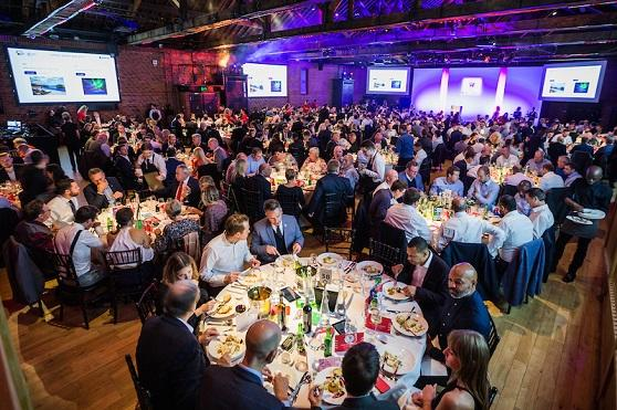 A picture of the venue with table guests at LSQ 2019