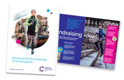 Marathon Month Challenge fundraising materials