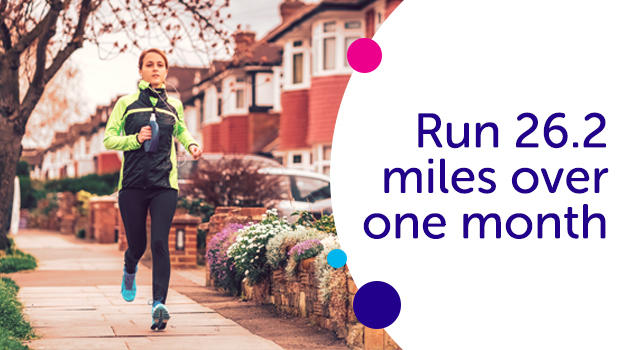 Run 26.2 miles over month for Cancer Research UK.