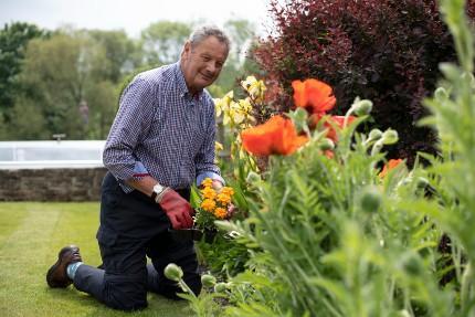 MIke in his garden