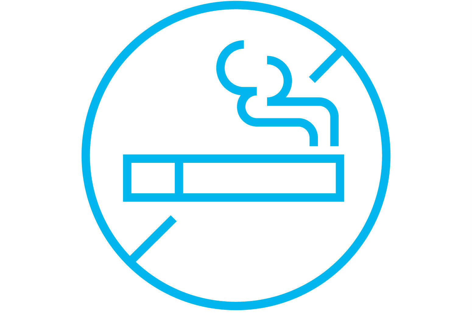 No smoking sign for tools on how to quit smoking