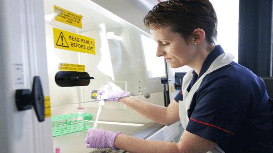 Photo of a nurse in a lab
