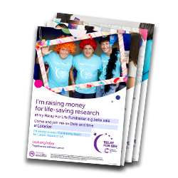 Relay fundraising posters