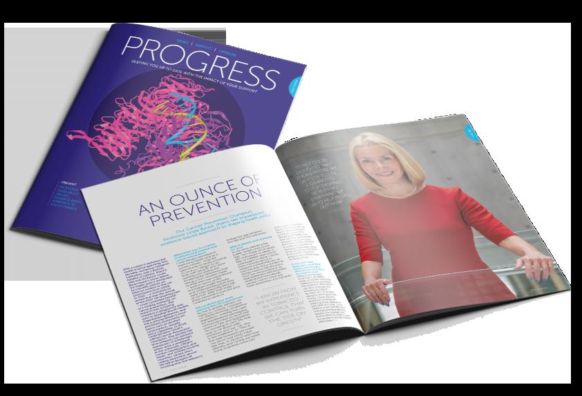 Our donor magazine, 'Progress'