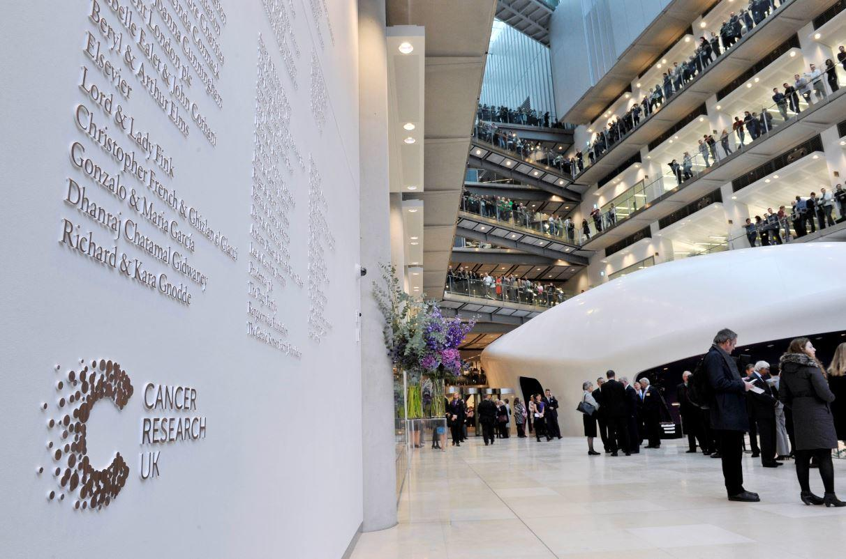Roll of honour wall at the Francis Crick Institute