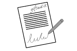 An illustrated Gift Aid registration form