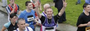 Cancer Research UK Runner at Richmond Runfest Marathon