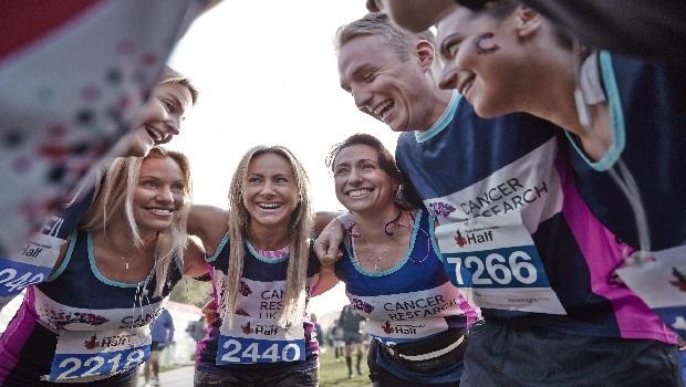 Reading half marathon giving breast cancer