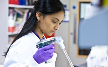 Scientist working at Addenbrookes