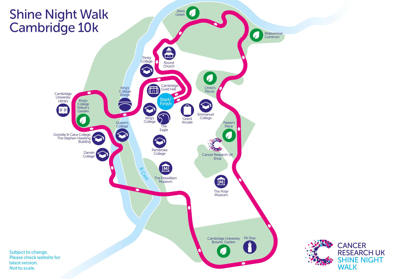 Shine Cambridge course map