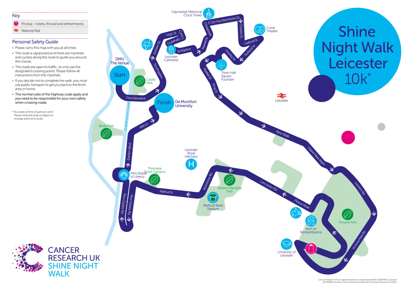 Shine Night Walk 2021 Leicester Map