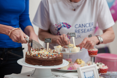 Shine supporters hosting a bake sale for Cancer Research UK