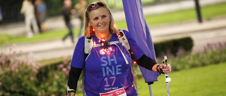 Lady taking part in Shine Walk Your Way