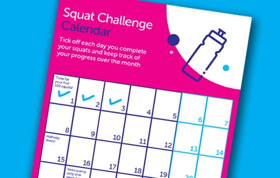 Squat challenge calendar