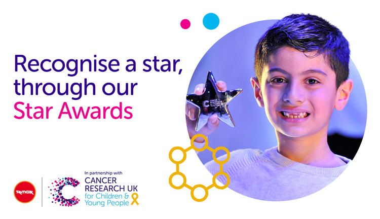 Banner image for the Star Awards with a photo of a young boy holding his award