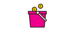 Fundraising bucket.
