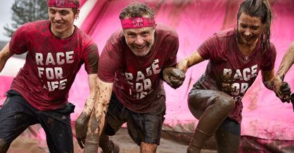 Challenge goers at Tough Mudder